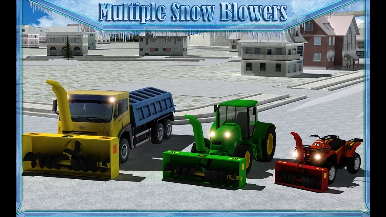 Snow blower truck simulator 3d android gameplay hd youtube for Simulatore 3d