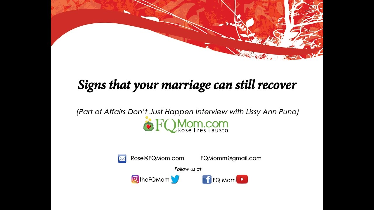 How to recover your marriage