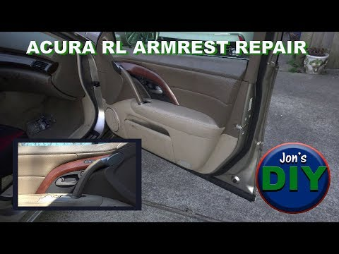 Acura RL Armrest Upholstery Repair and Door Panel Removal.