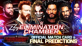 WWE ELIMINATION CHAMBER 2021 FINAL PREDICTIONS | FULL OFFICIAL MATCH CARD