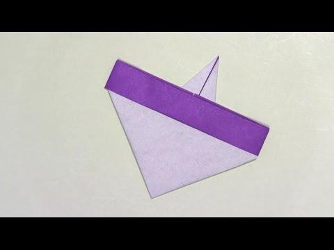 ハート 折り紙 コマの作り方 折り紙 : youtube.com