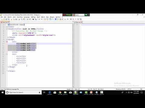 HTML Tutorial - Ordered list and Unordered list#44 thumbnail