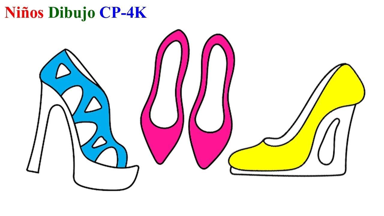 Zapatos De Niñas Páginas Para Colorear Cómo Dibujar Zapatos De Niñas Para Niños