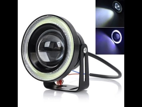 gearbest exled angel eye dual mode led fog lights review