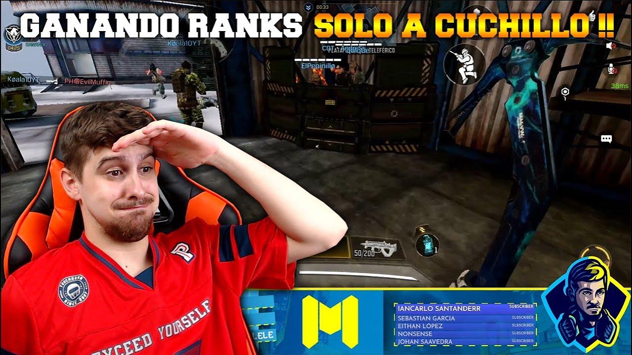 GANANDO RANKS SOLO A CUCHILLO !! COD MOBILE