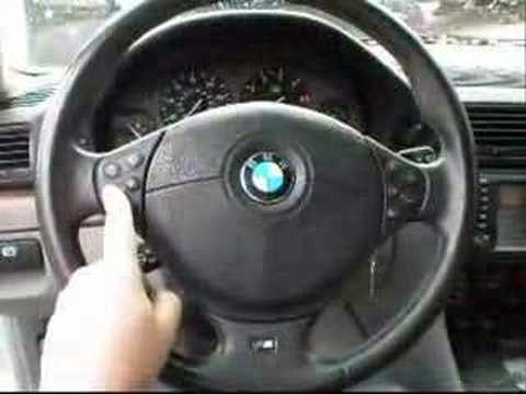Bmw E39 M Sport >> E38 BMW testing E39 M-Sport steering wheel in 1999 740iL - YouTube