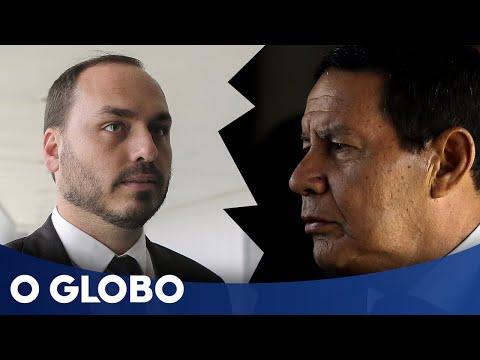 Carlos Bolsonaro volta a atacar o vice Mourão nas redes sociais