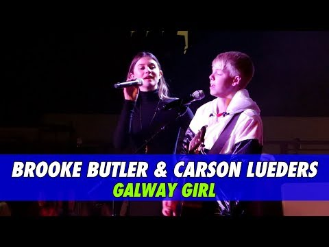 Brooke Butler & Carson Lueders - Galway Girl (Live Cover)