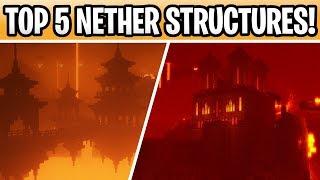 Minecraft 1.16 Top 5 Nether Structures! Castles, Bridges & Dungeons!
