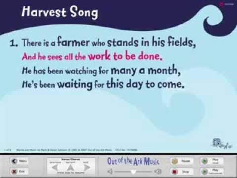 Harvest Song - Words on Screen™ Original