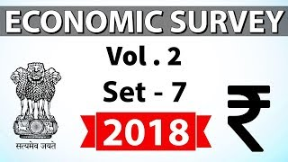Economic Survey 2018 Volume 2 Set-7 Multidimensional analysis for UPSC/RBI/IBPS/SBI/State PCS