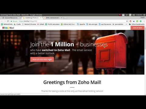 Create free Professional Business email with custom domain using Zoho mail