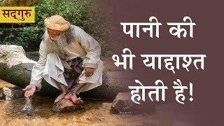 पानी की भी याददाश्त होती है! Water has memory | Sadhguru Hindi