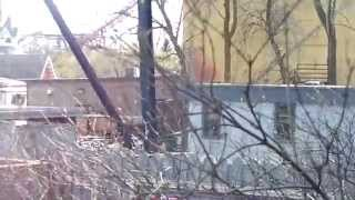 Fire Damage By Grand Music Hall Six Flags Great America Opening Day 2014 5-3-14