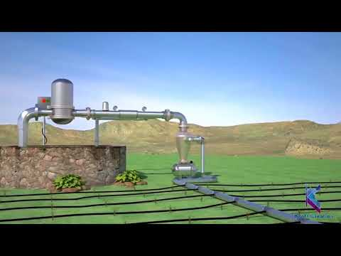 3D drip irrigation system process by KCGI