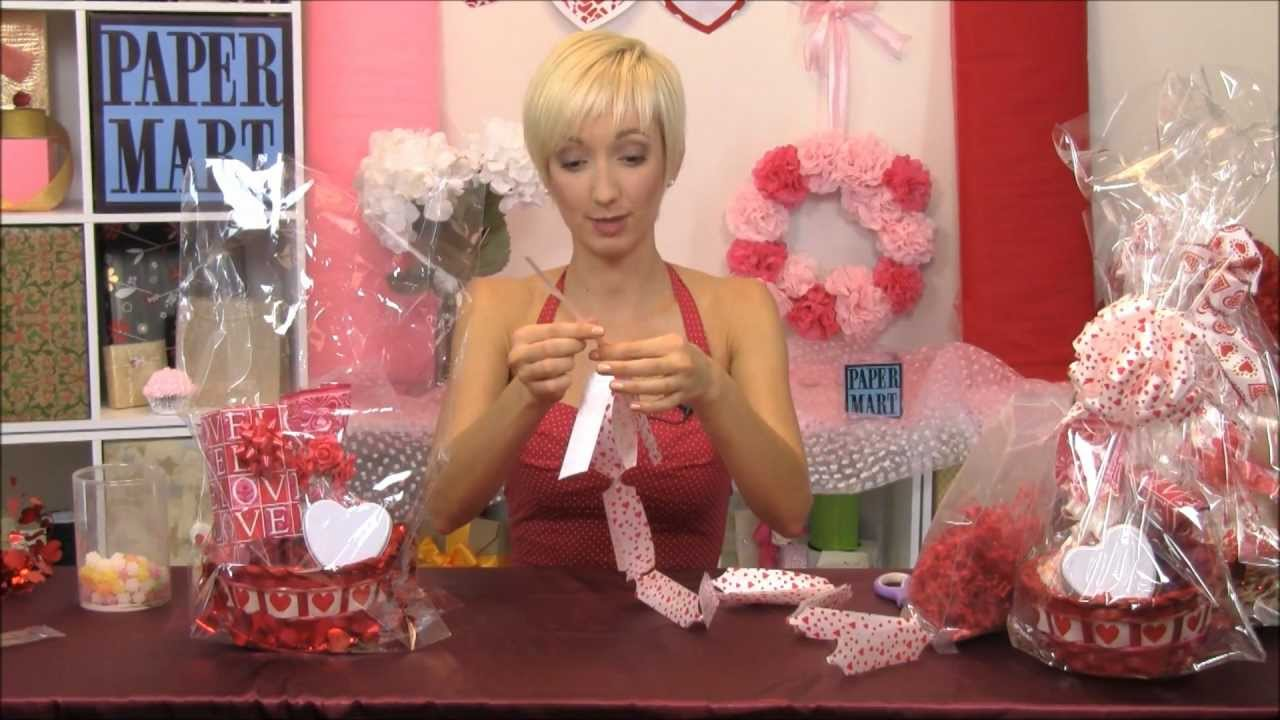 How to make valentines day gift baskets youtube negle Image collections