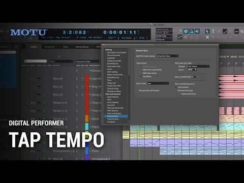 Using Tap Tempo in Digital Performer