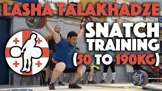 Lasha Talakhadze (105+) - Snatch Training Session (up to 190kg)