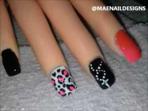 Cross Chain Leopard Print Nail Design Maenaildesigns