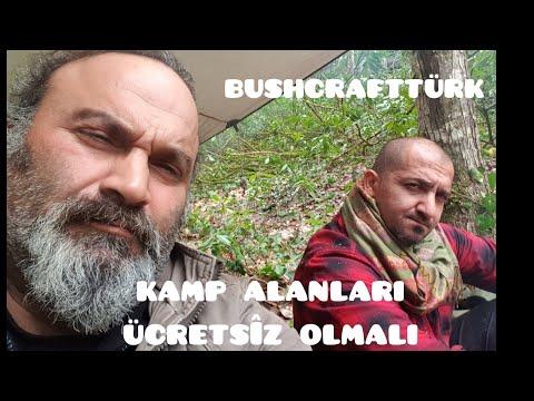 Kamp Alanları Ücretsiz Olmalı-Doğa İnsanları-Bushcraf Türk Ile Kamp-Yaralı Pitbul-Kamp Yalanları.