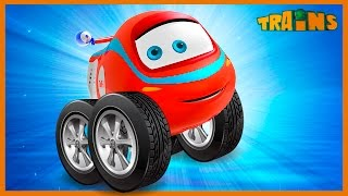 My Red Monstertruck - My Magic Pet Train video for kids