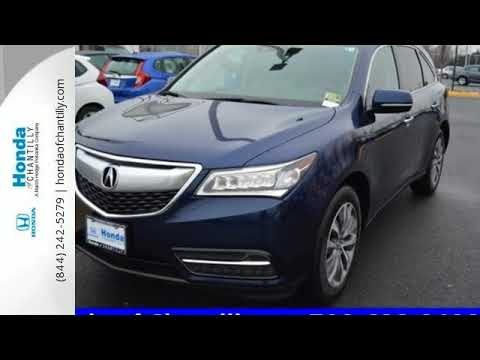 Used 2015 Acura MDX Washington DC MD Chantilly, DC #HP18041 - SOLD