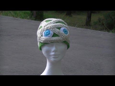 Mummy Crochet Hat Great For Halloween Youtube