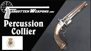 Salvatore Mazza Gold-Inlaid Percussion Collier Revolver