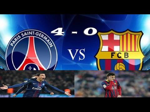 PSG VS BARCELONA 4-0 Goals Highlights (Champions League 14 ...