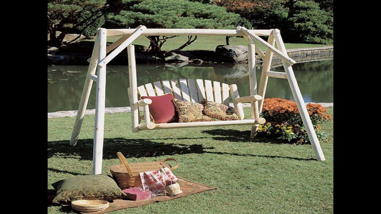 Garden swings garden swings plans youtube for Log swing plans