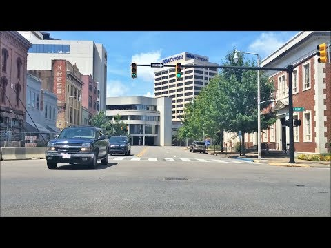 Driving Downtown - Montgomery Alabama USA