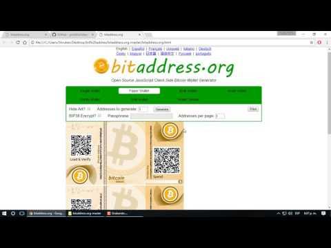 Billetera De Papel (cartera Fria) Protege Tus Bitcoin De Los Cyberataques