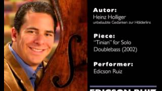 For Solo Doublebass, Edicson Ruiz Andreas Werner, sound engineer.