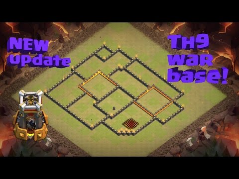 Town Hall 9 WAR  Base!!✔ New Update✔BOMB TOWER ! Clash of Clans