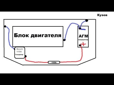 Как сделать дубляж с генератора на акб приора