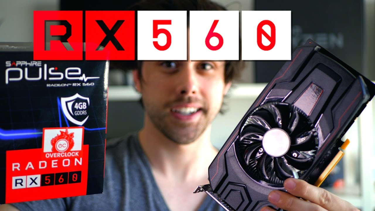 AMD RX 560 4GB Graphics Card - Budget 1080p Gaming!