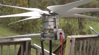 Putting up the wind turbine
