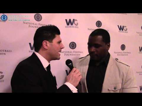 Amos Zereoué Speaks at National Football Foundation (NYC) 2016 Elite Eleven Gala