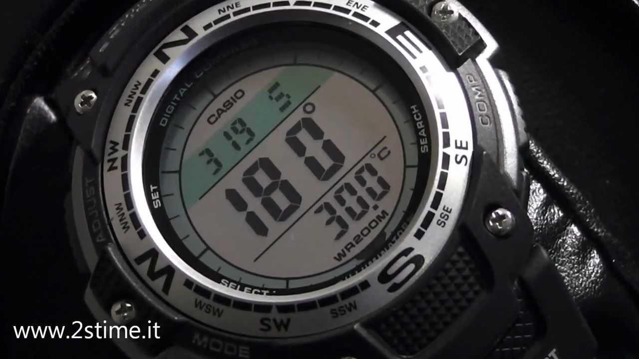 2s Time Casio Sgw 100 1v Digital Compass Temperature