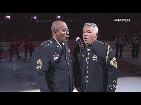 TBL@WSH, Gm4: Sergeants sing Star-Spangled Banner