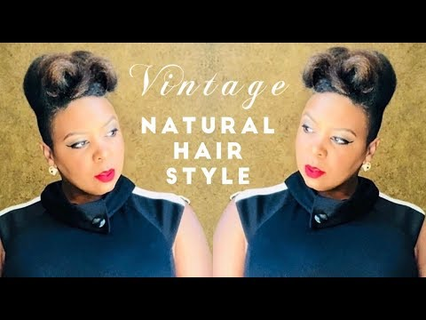 Vintage Natural Hairstyle w/Undercut