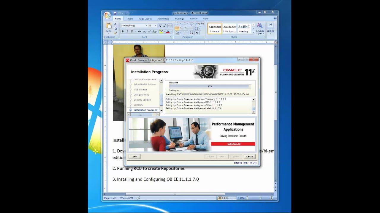 Installing Oracle Business Intelligence Enterprise Edition 11 1 1 7 0 on  Windows