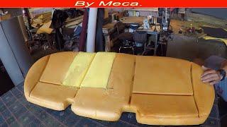 Repair bottom cushion foam - Reparar espuma de un Asiento,