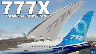 Boeing 777X Folding Wingtips First Look