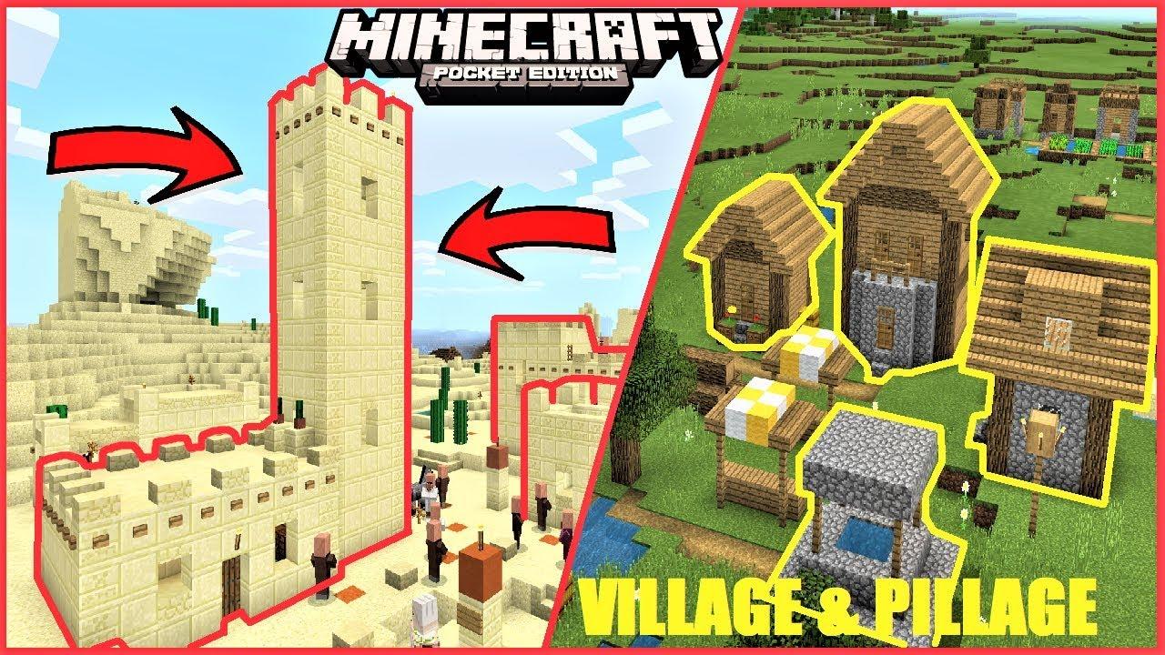 Mcpe New Desert And Plains Village Village Pillage Update