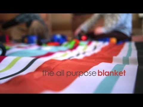 JJ Cole All-Purpose Blanket - for indoor and outdoor use with compact fold