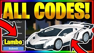 *ALL* OP WORKING SECRET CODES! Roblox Vehicle Simulator