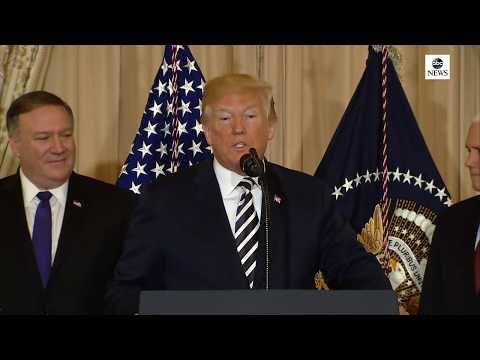 President Trump participates in swearing-in ceremony of Secretary of State Pompeo | ABC News