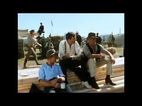 Mark Hembrow, Paul Hogan and Andrew Clarke  Anzacs  TV Mini Series  Camp Banter