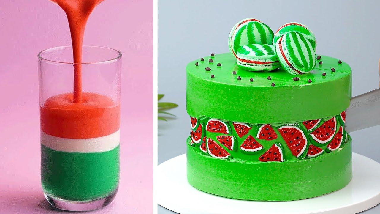 Best Watermelon Cake Ideas | Easy Fruit Cake Decorating Tutorials | So Yummy Cake